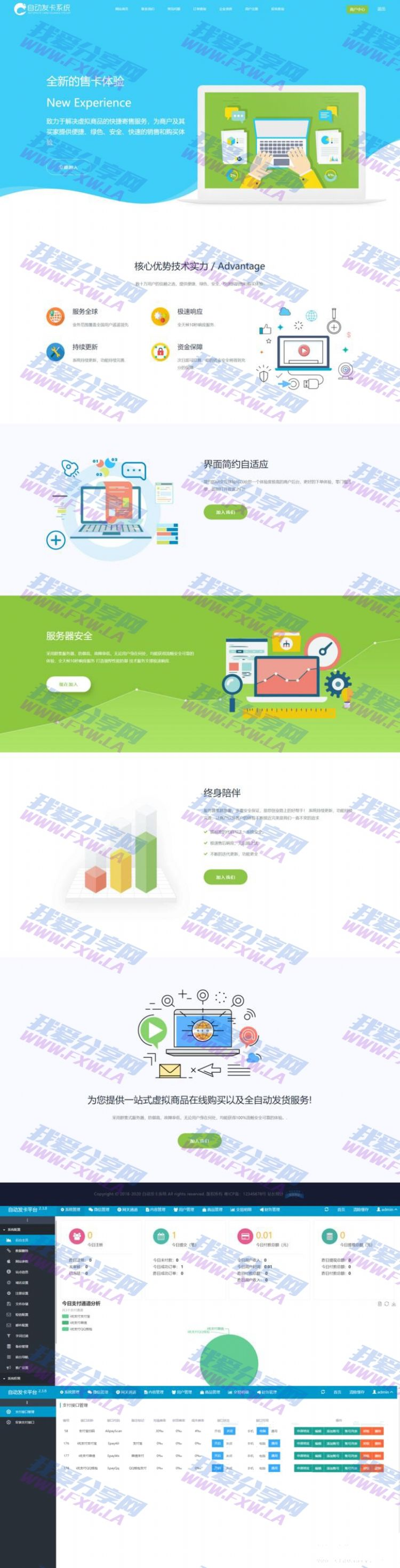 知宇企业自动发卡系统对接易支付接口版